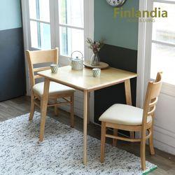 핀란디아 레이나 모네 2인원목식탁세트(의자2)