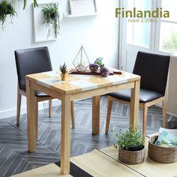 핀란디아 아레스 빈츠 2인대리석식탁세트(의자2)