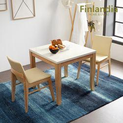 핀란디아 아레스 리오 2인대리석식탁세트 아이보리방석(의자2)