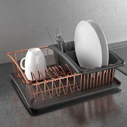 로즈골드 메탈텍스 코퍼 식기건조대 설거지용품