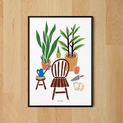 유니크 디자인 인테리어 포스터 M 홈가드닝 식물 A3(중형)
