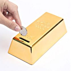 골드바 금괴 저금통 (중) 지폐보관함 돈통