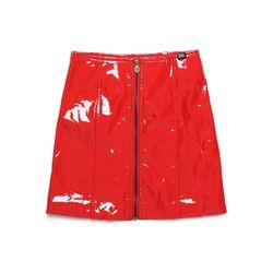 [서울어패럴]SEOUL Apparel Enamel Skirts (Red)