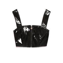 [서울어패럴]SEOUL Apparel Enamel Crop Top (Black)