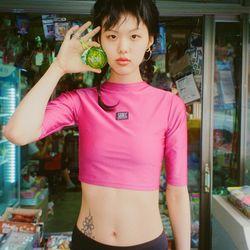 [서울어패럴]SEOUL Apparel Half Neck T-shirts (Purple)