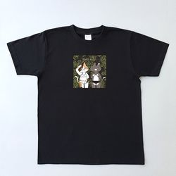 Cats music T-shirt (black)