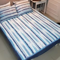 좋은솜 좋은이불 오션스트라이프 침대 패드 155x200