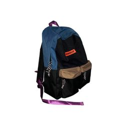 COLOR BLOCKING BACKPACK (BLUE BEIGE)