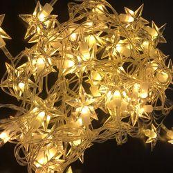 LED 별전구 투명선 웜 크리스마스전구 캠핑전구