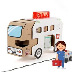 구급차 만들기(1개)교통기관만들기