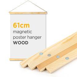 자석 포스터 걸이 - 우드 61cm (대형 포스터용)