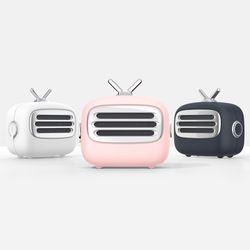 엑토 레트로 TV 미니 휴대용 블루투스 스피커 BTS-34