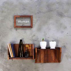 멀바우 원목 벽선반