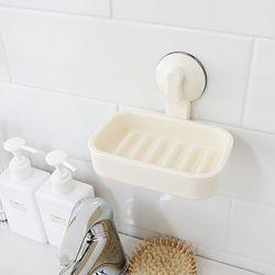 욕실 무타공 벽부착 2중 진공 흡착 비누 받침대
