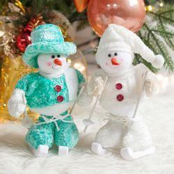스키 눈사람 25cm 트리 크리스마스 장식 인형 TRDOLC