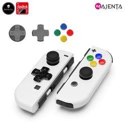 마젠타 닌텐도 스위치 스컬앤코 D-PAD+버튼커버