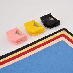 코너라운더 3종 블랙 핑크 노랑 모서리재단 코너커팅