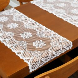 프렌치 레이스 테이블 러너 3p세트(꽃무늬)