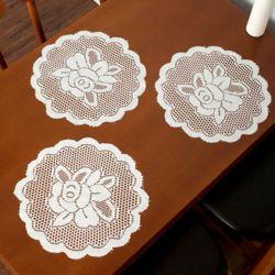 프렌치 레이스 테이블 러너 5p세트(꽃송이)