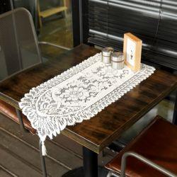프렌치 레이스 테이블 러너(33x91cm) (아이보리)