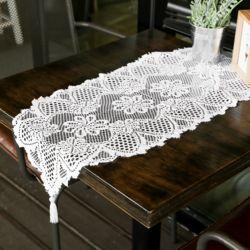 프렌치 레이스 테이블 러너(33x91cm) (화이트)