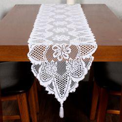 프렌치 레이스 테이블 러너(33x183cm) (화이트)