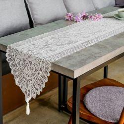 프렌치 레이스 테이블 러너(33x183cm) (아이보리)