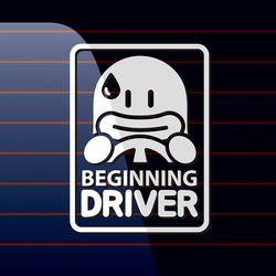 캐찹 자동차스티커 오우덕 사각 Beginning driver 06