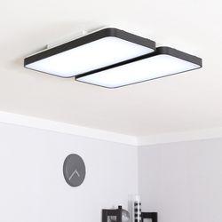 LED 라인 거실등 110W 화이트 (화이트 블랙)