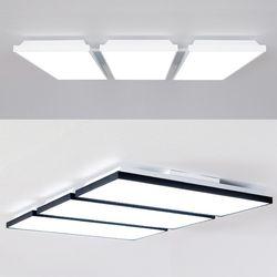 LED 스퀘어 초슬림 거실등 165W (화이트 블랙)