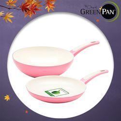 그린팬 추석선물 포커스(핑크) 2종팬24cm+궁24cm