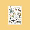 동물 수채화 포스터