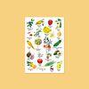 과일채소 수채화 포스터