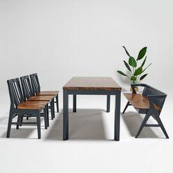 마론 원목 6인식탁세트 식탁의자3개(벤치형)