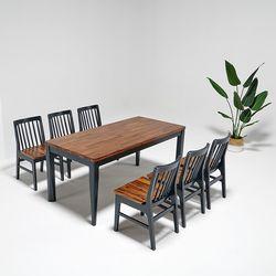 마론 원목 6인식탁세트 식탁의자6개(일반형)