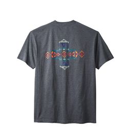 호라이즌 크로스 반팔 티셔츠 차콜