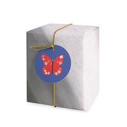 붉은 나비 원형 [텍] (10개)