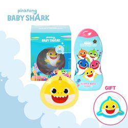 핑크퐁 아기상어 목욕SET 옐로우 (목욕스펀지)