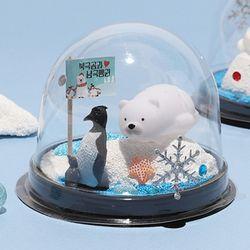 [아트랄라]북극곰과 남극펭귄(4개)환경보호