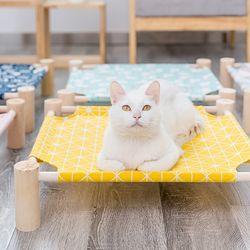 봉봉펫닷컴 고양이 사각 원목 해먹