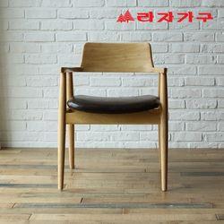 도스 고무나무 원목 식탁 의자