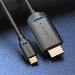 벤션 4K 맥북 스마트폰 C타입 HDMI 미러링 케이블 1m