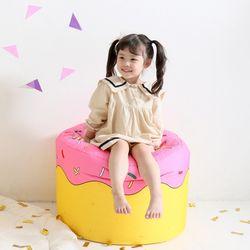 핑크도너츠 빈백 유아소파
