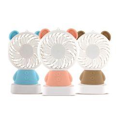 휴대용 LED 레인보우 라이트 캐릭터 핸디 미니 선풍기