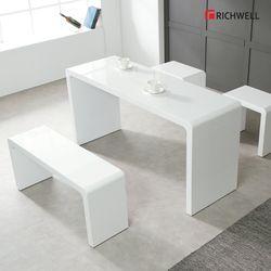 하이그로시 멀티일자 식탁 테이블 1500 의자별도
