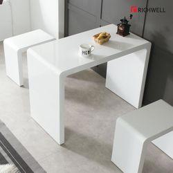 하이그로시 멀티일자 식탁 테이블 800 의자별도