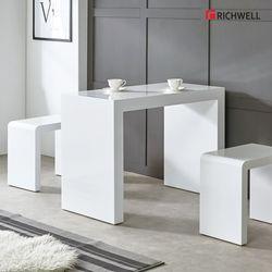 하이그로시 모던 멀티일자 식탁 테이블 1000 의자별도