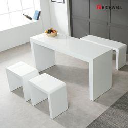 하이그로시 모던 멀티일자 식탁 테이블 1500 의자별도