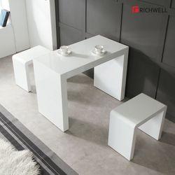 하이그로시 모던 멀티일자 식탁 테이블 800 의자별도