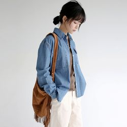 vintage denim work shirts (denim)